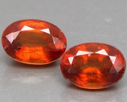 SPESSARTITE GARNET 1.40 CARAT WEIGHT PARCEL OVAL STEP CUT