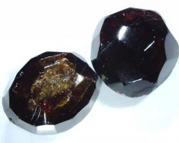 GARNET NATURAL FACETED BEAD DRILLED 2 PCS125 CTS NP-1046