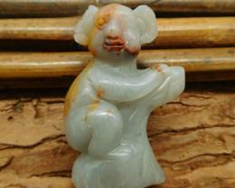 Agate carved koala bear pendant jewelry (G1066)