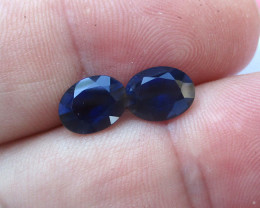 2.95cts Violetish/Blue Iolite Matching Oval Cut