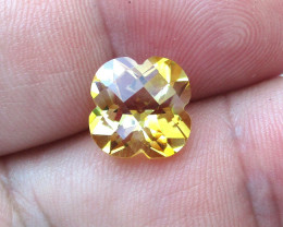 4.15cts Golden Yellow Citrine Flower Checker Board Cut