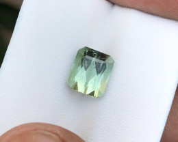 3 Ct Natural Sea Foam Color Transparent Tourmaline Gemstone