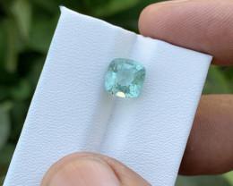 2.80 Ct Natural Sea Foam Color Transparent Tourmaline Gemstone