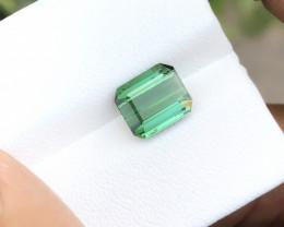2.10 Ct Natural Greenish Transparent Tourmaline Ring Size Gemstone