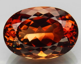 22.94 Ct. Natural Top Imperial Topaz Brazil Oval Facet Superior Unheated