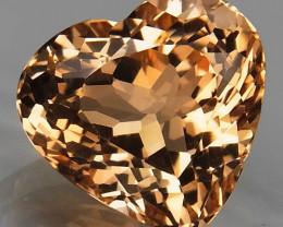11.41Ct. Natural  Topaz Brazil Heart Shape Facet Superior