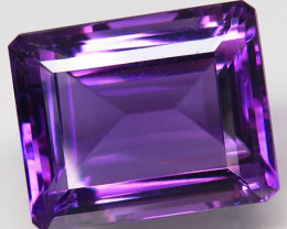 24.32Ct. Natural Rich Purple Amethyst Uruguay Octagon Facet Attractive Unhe