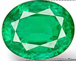 Zambia Emerald, 3.86 Carats, Deep Green Oval