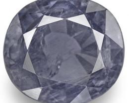 IGI Certified Pakistan Blue Sapphire, 3.45 Carats, Blue Oval