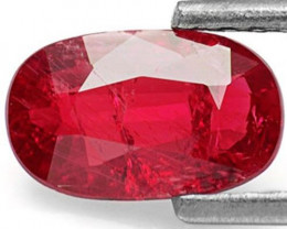 Mozambique Ruby, 1.08 Carats, Intense Red Oval