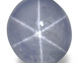 Sri Lanka Blue Star Sapphire, 12.23 Carats, Greyish Blue Oval