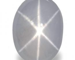 Sri Lanka Fancy Star Sapphire, 14.70 Carats, Pale Bluish White Oval