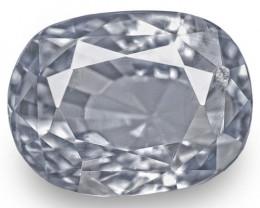 IGI Certified Sri Lanka Blue Sapphire, 4.57 Carats, Violetish Blue Oval