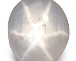 Sri Lanka Fancy Star Sapphire, 3.02 Carats, White Oval