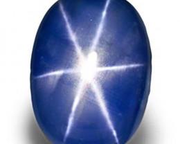 Burma Blue Star Sapphire, 7.95 Carats, Cornflower Blue Oval