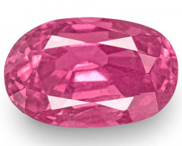 IGI Certified Madagascar Pink Sapphire, 2.17 Carats, Rich Pink Oval