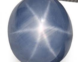 Burma Blue Star Sapphire, 4.70 Carats, Intense Sky Blue Oval