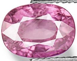 IGI Certified Mozambique Pink Sapphire, 1.63 Carats, Purplish Pink Oval