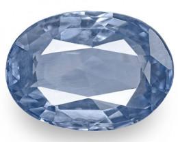 IGI Certified Sri Lanka Blue Sapphire, 2.21 Carats, Velvety Blue Oval