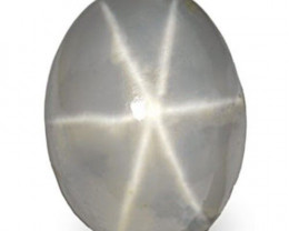 Sri Lanka Fancy Star Sapphire, 4.79 Carats, Greyish White Oval