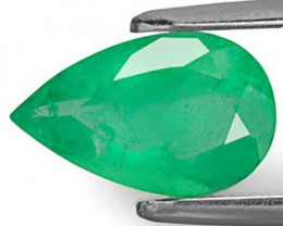 Colombia Emerald, 1.85 Carats, Light Green Pear
