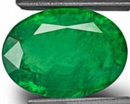 Zambia Emerald, 6.32 Carats, Velvet Green Oval
