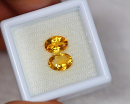 1.90Ct Yellow Citrine Oval Cut Lot LZB587