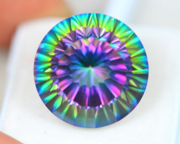 24.13Ct Natural Mystic Topaz Round Cut Lot Z573