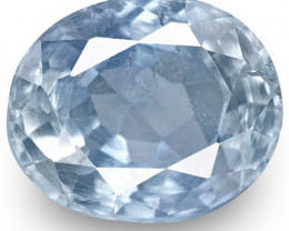 IGI Certified Kashmir Blue Sapphire, 0.74 Carats, Pastel Blue Oval