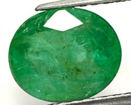 Zambia Emerald, 3.18 Carats, Dark Forest Green Oval