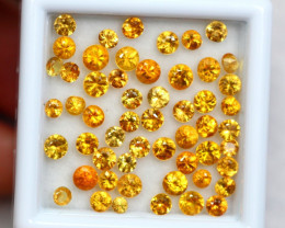 5.54cts Natural Yellow Colour Sapphire lots / JU216