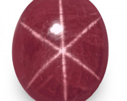 IGI Certified Vietnam Star Ruby, 9.91 Carats, Magenta Red Oval