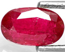 AIGS Certified Burma Ruby, 1.33 Carats, Magenta Red Oval