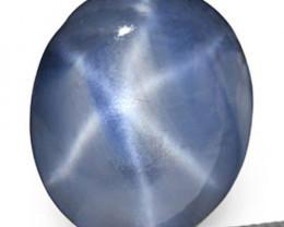 Sri Lanka Blue Star Sapphire, 4.09 Carats, Medium Blue Oval