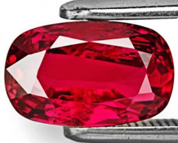 GRS Certified Mozambique Ruby, 2.04 Carats, Fiery Red Oval