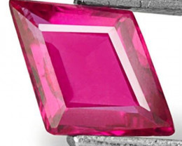Mozambique Ruby, 0.47 Carats, Bright Pinkish Red Fancy Cut