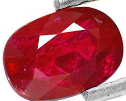 IGI Certified Mozambique Ruby, 1.22 Carats, Dark Red Oval