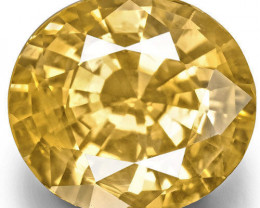 GIA Certified Sri Lanka Yellow Sapphire, 3.59 Carats, Orangish Yellow Oval