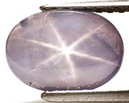 Sri Lanka Fancy Star Sapphire, 3.74 Carats, Silvery Purple Oval