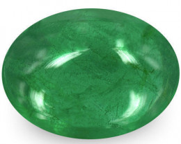 Zambia Emerald, 1.12 Carats, Deep Green Oval