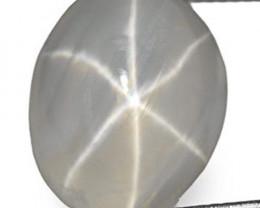 Sri Lanka Fancy Star Sapphire, 3.80 Carats, Greyish White Oval