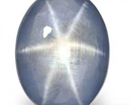 Sri Lanka Blue Star Sapphire, 13.40 Carats, Sky Blue Oval
