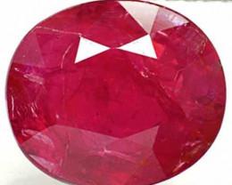 IGI Certified Burma Ruby, 2.75 Carats, Deep Purplish Red Oval