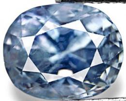 IGI Certified Burma Blue Sapphire, 1.18 Carats, Vivid Blue Oval