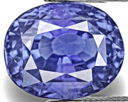 IGI Certified Burma Blue Sapphire, 4.05 Carats, Lively Cornflower Blue Oval