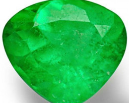Colombia Emerald, 1.53 Carats, Neon Green Heart