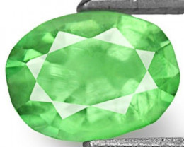 Colombia Emerald, 0.71 Carats, Pastel Green Oval