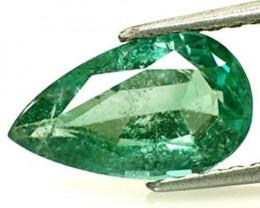 Zambia Emerald, 2.02 Carats, Intense Green Pear