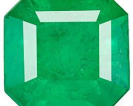 Colombia Emerald, 1.67 Carats, Deep Green Emerald Cut