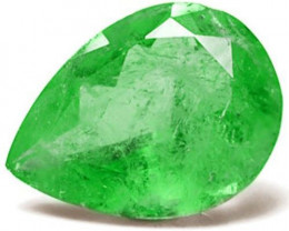 Colombia Emerald, 75.16 Carats, Vivid Green Pear